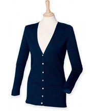 Gilet boutonné cardigan - FEMME - H723 - bleu marine