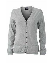 Pull boutonné cardigan cachemire - FEMME - JN667 - gris clair