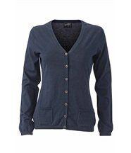 Pull boutonné cardigan cachemire - FEMME - JN667 - bleu marine