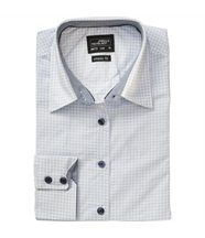 chemisier manches longues - JN673 - FEMME - blanc - bleu clair - motifs dots