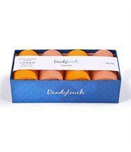Coffret 4 paires de Chaussettes assorties Orange-Saumon