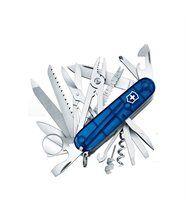 Couteau suisse Victorinox Swisschamp bleu translucide