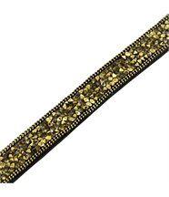 Bracelet Femme et Cuir Doré Incrusté DAPHNEE 1204