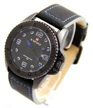 Montre Homme Fashion Cuir Noir NAVIFORCE 2912