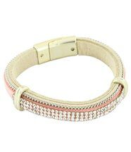 Bracelet Femme en Cuir Rose Incrusté DAPHNEE 1220