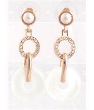 Boucles d oreilles femme Rosé DAPHNEE et Cie 174