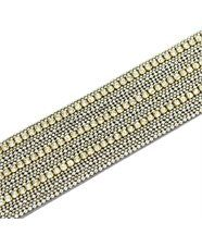 Bracelet de Femme Cuir Gris Incrusté DAPHNEE 1196