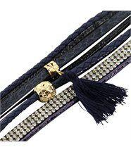 Bracelet Femme avec Cuir Bleu Incrusté DAPHNEE 1144