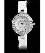 Montre Femme Céramique Originale en Blanc SEVEN PRINCESS 905