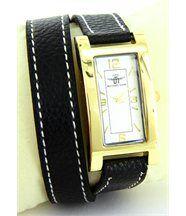 Montre pour Femme Cuir Noir Double-Bracelet MICHAEL JOHN 2269