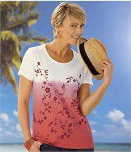 T-Shirt mit Batik-Motiv
