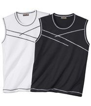 Set van 2 mouwloze T-shirts
