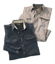 Lot de 2 chemises flanelle