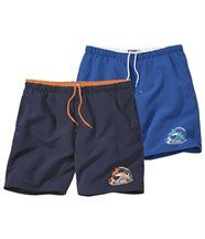 Lot de 2 Shorts de Bain Surfing
