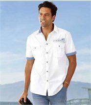Het popeline overhemd 'Mykonos'