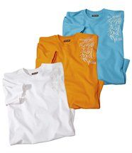 Set van 3 T-shirts 'Pacifi c Sun'