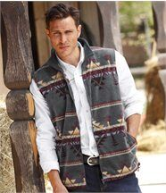Gilet Polaire Style Indien