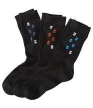 3 Paar Socken mit Jacquard-Motiv