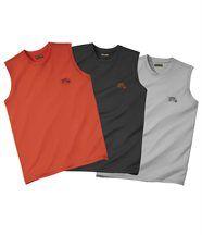 Lot de 3 Tee-Shirts Sans Manches