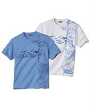 2er-Pack T-Shirts Maori Tatoo