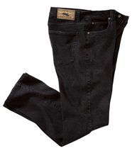 Stretch-Jeans aus schwarzem Denim
