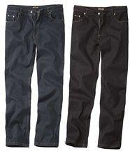 Lot de 2 Jeans Bleu et Noir