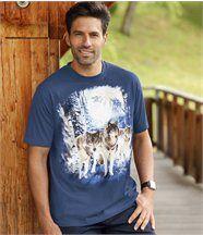 T-Shirt mit Wolfsmotiv