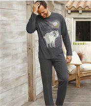 Pyjama mit Wolfsmotiv