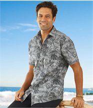 Het popeline overhemd 'Malibu'
