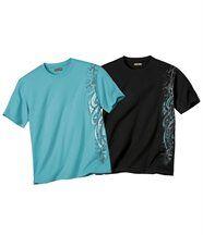 Lot de 2 Tee-Shirts Maori Graph