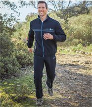 Jogging-Anzug aus Microfaser im sportlichen Stil