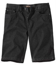 Schwarze Bermuda-Jeans
