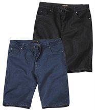 2er-Pack Jeans-Bermudas