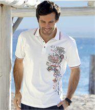 Poloshirt mit farbigen Rippbündchen