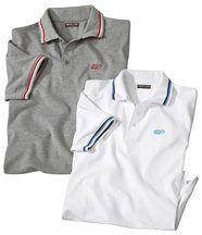2er-Pack Poloshirts Relax in Piqué-Qualität