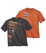 Lot de 2 Tee-Shirts VTT Racing