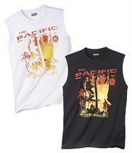 Lot de 2 Tee-Shirts Malibu Surfing