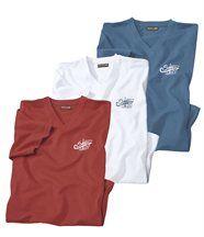 Lot de 3 Tee-Shirts Island Coast