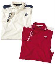 2er-Pack lässige Poloshirts aus Jersey