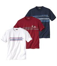 Lot de 3 Tee-Shirts Graphic