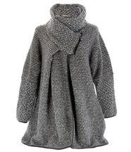 Manteau laine bouillie gris VIOLETTA