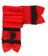 écharpe longue laine bouillie rouge ALBERT