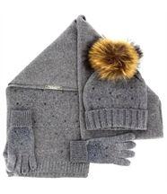 pack écharpe bonnet gants laine DONALD gris