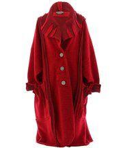 Manteau long hiver laine KARLA rouge