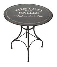Table ronde Bistro des halles en Métal 72x76cm