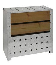 Silo à compost acier et bois
