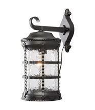 Applique extérieure lanterne suspendue rétro métal noir