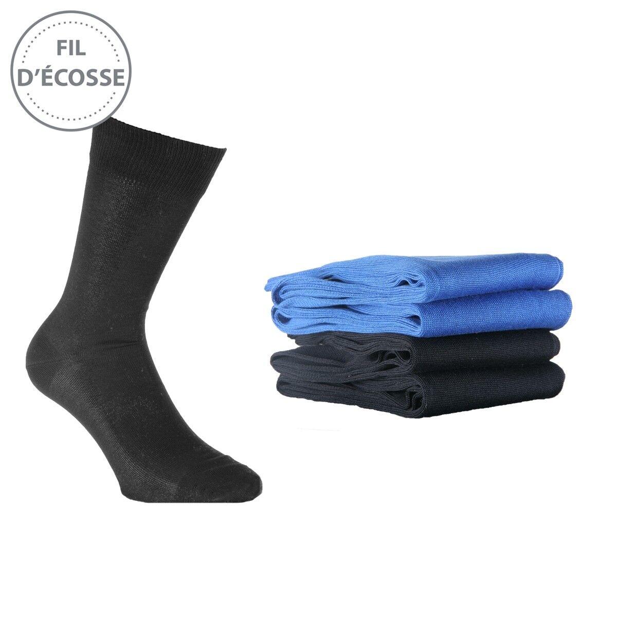 chaussettes fil d cosse homme lot de 4 ozabi. Black Bedroom Furniture Sets. Home Design Ideas