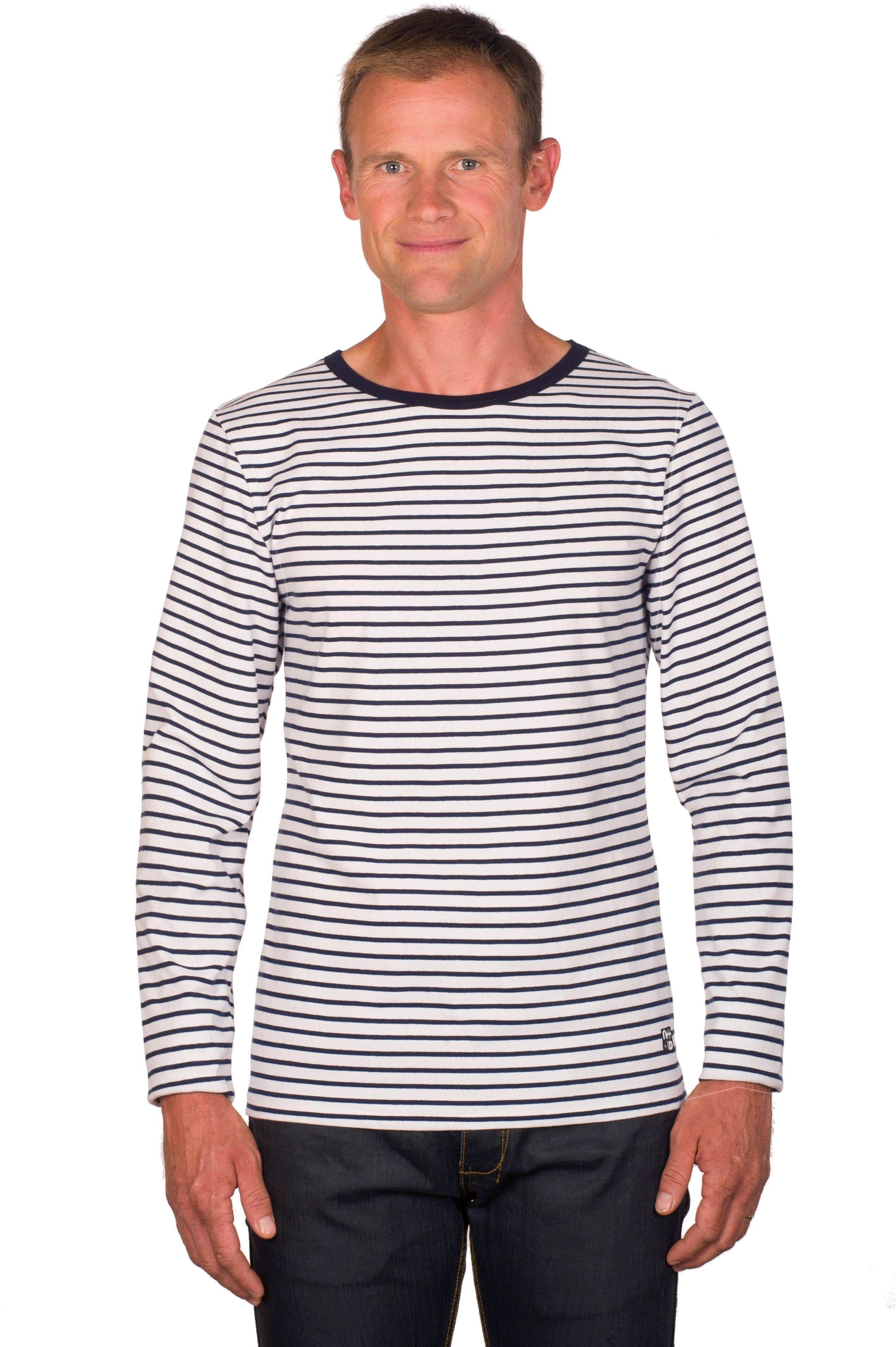 tee shirt homme marini re blanc bleu manches longues ugholin. Black Bedroom Furniture Sets. Home Design Ideas