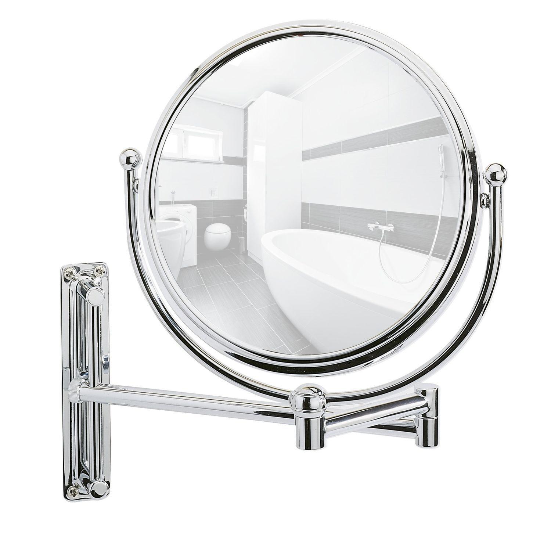 Miroir mural grossissant de salle de bain deluxe diam 19 cm argent atlas for men - Miroir grossissant salle de bain mural ...
